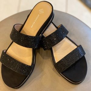 Black sparkly Antonio Melani sandals